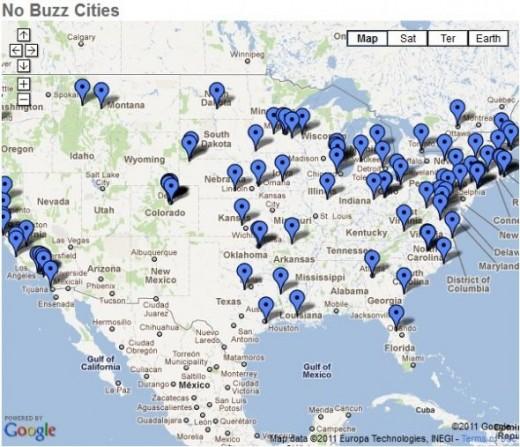No Buzz Cities