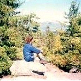 Me on the Appalachian Trail in Maine, looking at Mt. Katahdin