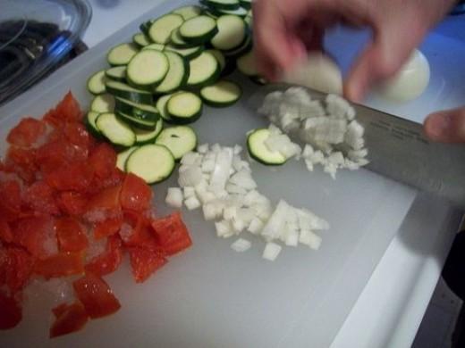 Dicing Onion for Zucchini Casserole