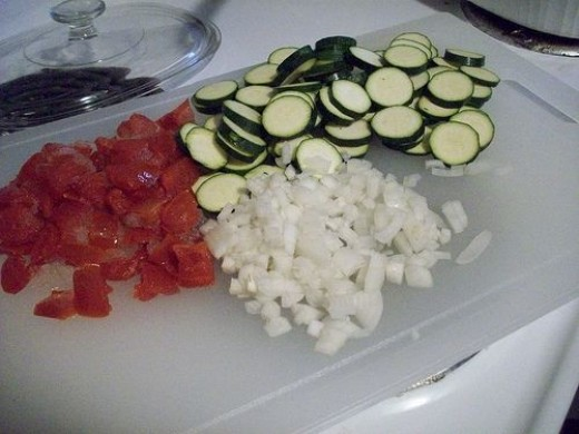 Vegetables all Cut Up