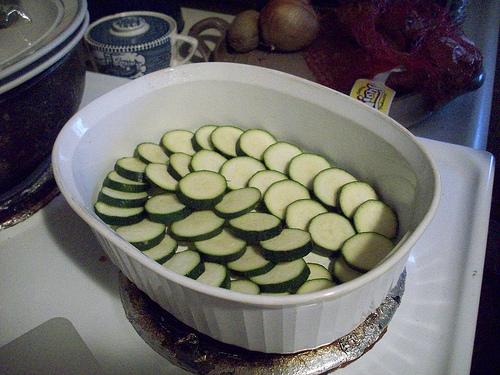 Zucchini Layer in Casserole Dish