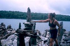 Adding to the cairns just past Delaware Water Gap