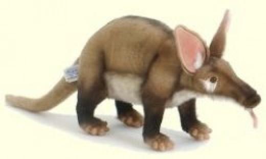 Realistic Stuffed Plush Toy Aardvark by Hansa