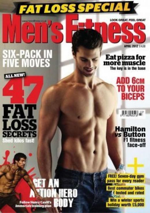 Henry on Cover of April 2012 Men's Fitness