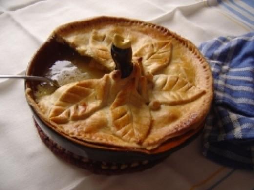 My pie with a pie bird inside