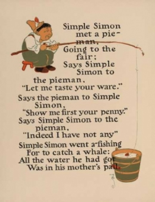 Image: Simple Simon from the Project Gutenberg E Book of Denslow's Mother Goose by William Wallace Denslow Public domain image