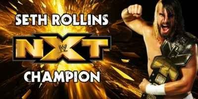 1st ever NXT CHampion Seth Rollins