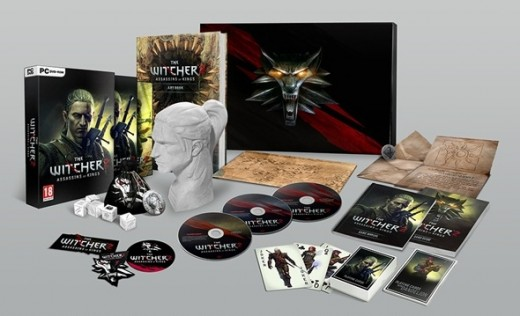 The Witcher 2 Collectors Edition contents. Huge array of bonuses for the biggest fans of the game.