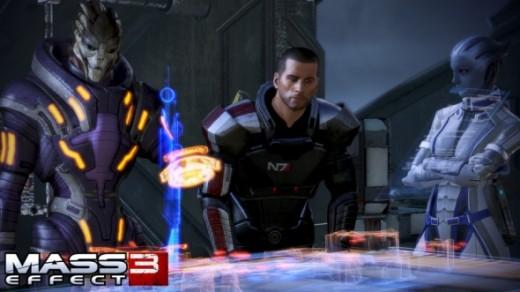 Garrus, Shepard and Liara