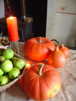 Pumpkins make great table decorations