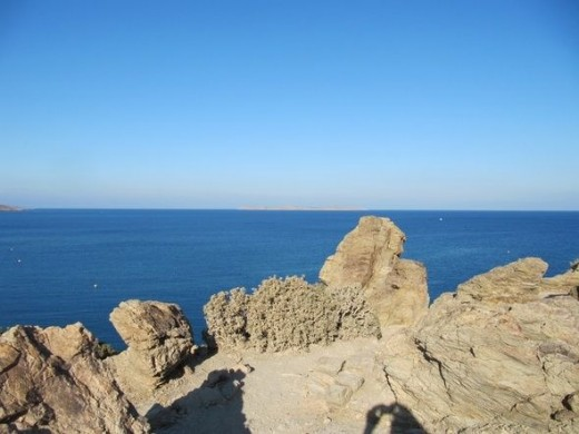 The Mediterranean Sea as seen from the coast of Crete.