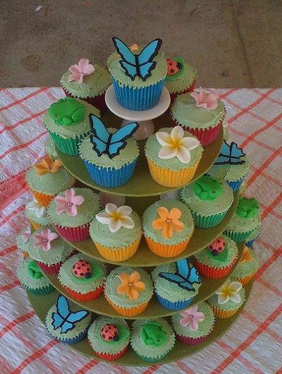 Garden Party Cupcake Tower by Sandra (socake)