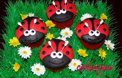 Very Cute Ladybug Cupcakes