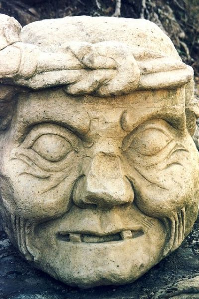 What secrets does this Mayan statue know? (Dentistry obviously isn't one of them)