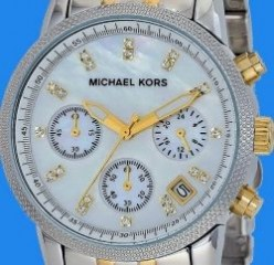 Two tone Michael Kors watch MK5057
