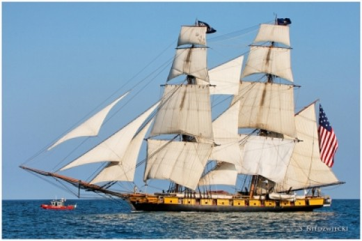 The Flagship Niagara -- a square-rigged brig that won the Battle of Lake Erie (she's my ship!)