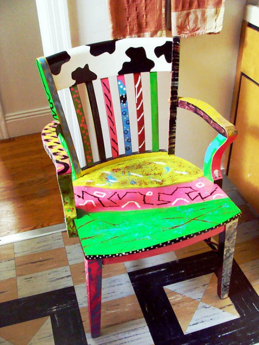 an artful chair by marilyn roxie on flickr