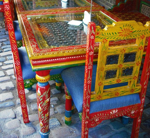 Painted Details, Table & Chairs, Camden Market by Vicki Burton, on Flickr