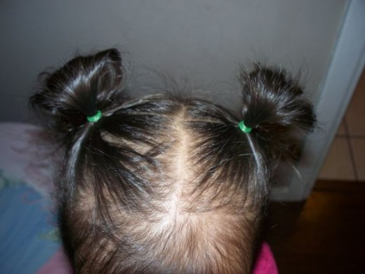 Messy Bun Hairsyle for Litlle Girls