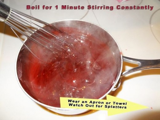 Boil the Raspberry Danish Dessert Stirring Constantly