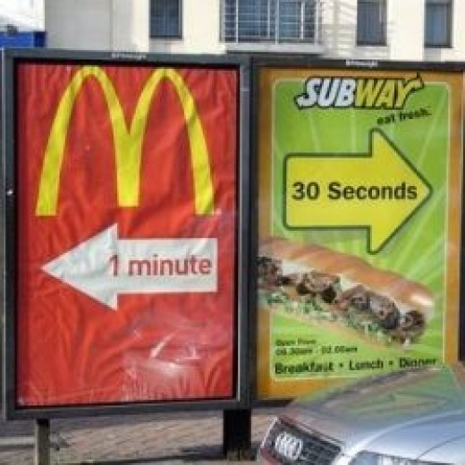 McDonalds or Subway?  Directions to your choice of fast food restaurants.