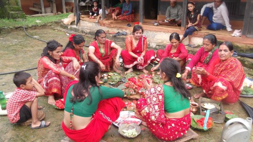 Path of devotion- Hindu women worshiping for long life of their husbands