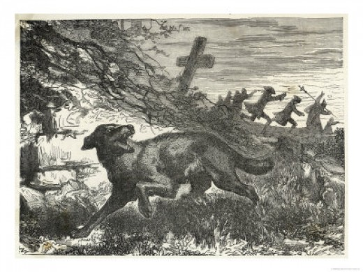 French villagers hunting a werewolf