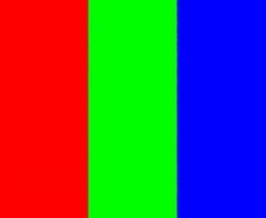 Red Green and Blue (Additive Primaries)