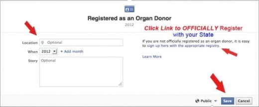 Facebook Donation Registry