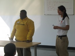 Working together to lead a workshop for City Year