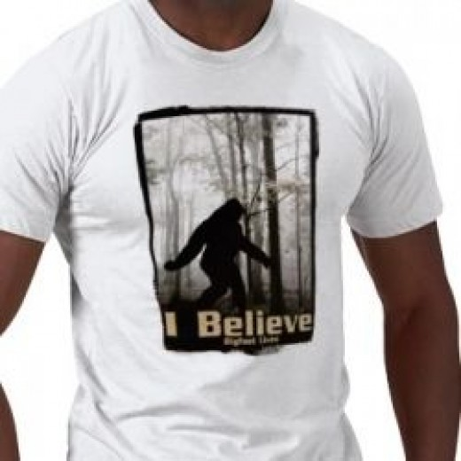 I Believe Bigfoot Lives tshirt