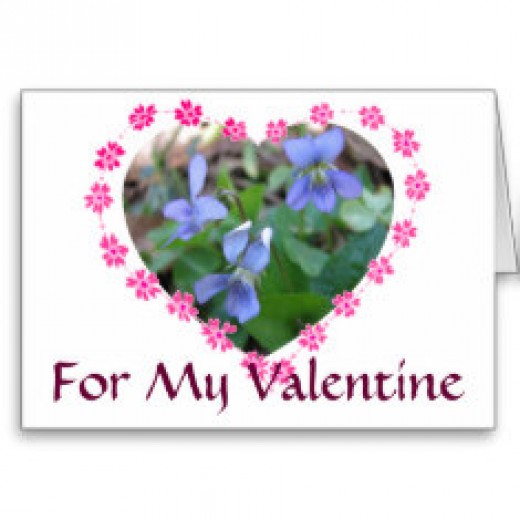 Bouquets of violets were the flower of choice for young gentlemen to give their lady love.
