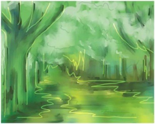 Tree landscape painting -Abstract Digital art By Sema