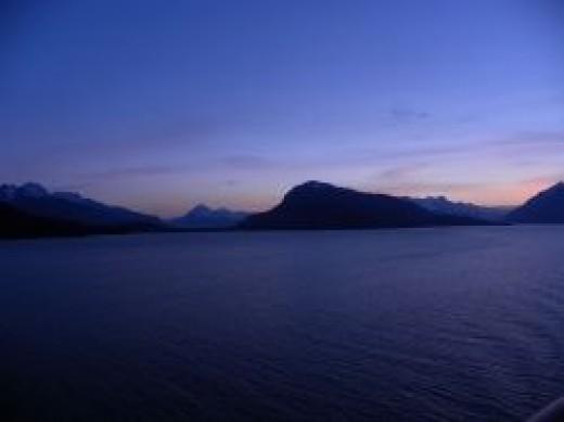 Alaska at dusk