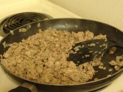 Cook Ground Turkey Until Browned.