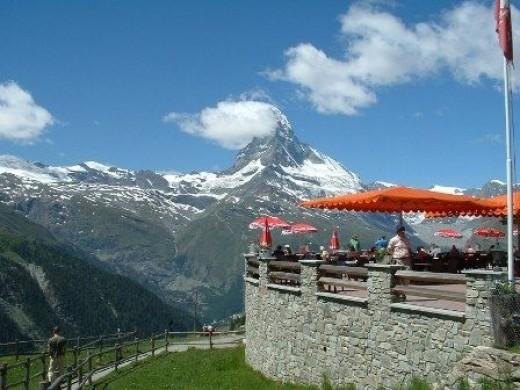 Sunnegga above Zermatt