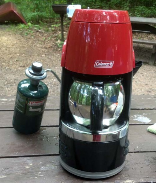 Coleman Portable Coffee Maker in Action!