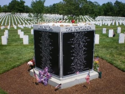 Memorial at Arlington National Cemetery for  Pentagon Victims of 911