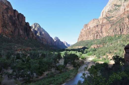 View of Zion Canyon from Kayenta Trail