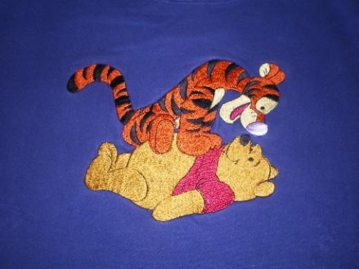 My Tigger & Winnie the Pooh sweatshirt--Gotcha Pooh Bear!