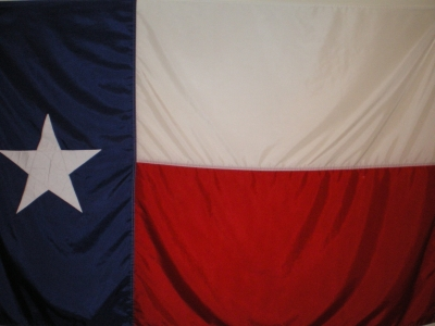 The Flag of the Lone Star State of Texas