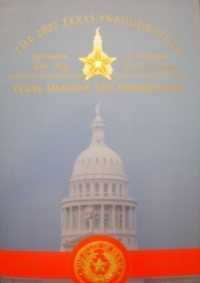 The 2007 Inauguration booklet, with the official Texas seal, given to all invited to attend the events.