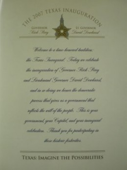 1st page of Inauguration Booklet