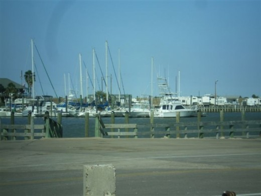 Matagorda, Texas boat dock