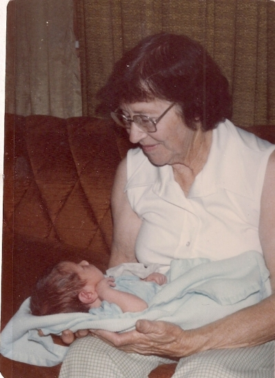 My Grandma Holding My Newborn Son (Now the Endodontist)