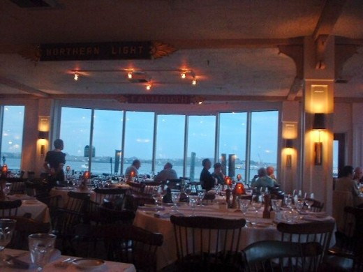 Inside the Pier 4 Restaurant in Boston