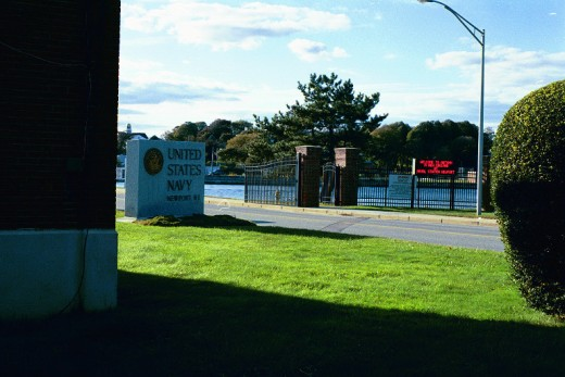 The Navy Base in Newport, Rhode Island