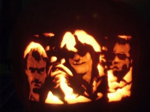 Early Police Pumpkin with Original Lineup Sting, Stewart Copeland, & Henry Padovani