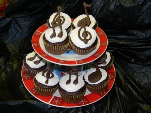 Lemonade Mouth Cake Ideas: Music Notes Cupcake Ideas from: http://cakecentral.com/gallery/1913491