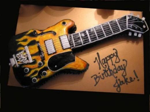 Lemonade Mouth Cake Ideas: Guitar Cake Ideas from: http://makincake.com/category/guitar-cakes/